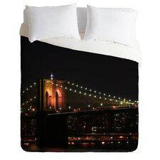 Leonidas Oxby Light Weight Brooklyn Bridge Duvet Cover