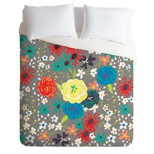 Vy La Light Weight Bloomimg Love Gray Duvet Cover
