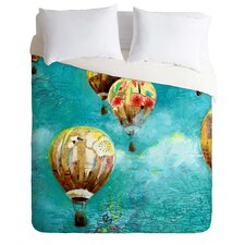 Land Of Lulu Lightweight Herd of Balloons Duvet Cover
