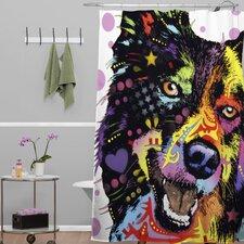 Dean Russo Border Collie Polyesterrr Shower Curtain