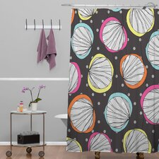 Rachael Taylor Polyester Scribble Shells Shower Curtain