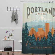 Anderson Design Group Woven Polyester Portland Shower Curtain