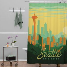 Anderson Design Group Woven Polyester Seattle Shower Curtain
