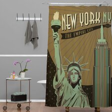 Anderson Design Group Woven Polyester New York Shower Curtain