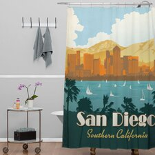 Anderson Design Group Woven Polyester San Diego Shower Curtain