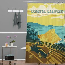 Anderson Design Group Woven Polyester Coastal California Shower Curtain