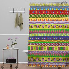 Bianca Woven Polyester Forever Young Shower Curtain