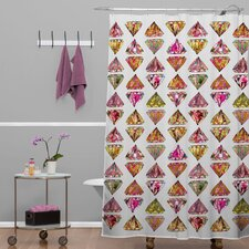 Bianca Woven Polyester These Diamonds Are Forever Shower Curtain