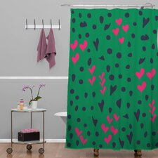 Vy La Animal Love Woven Polyesterr Shower Curtain