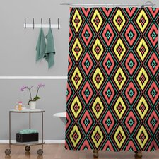 Jacqueline Maldonado Woven Polyester Zig Zag Ikat Shower Curtain