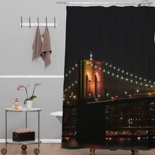 Leonidas Oxby Woven polyester Brooklyn Bridge 2 Shower Curtain