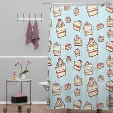 Jennifer Denty Woven Polyester Cake Slices Shower Curtain