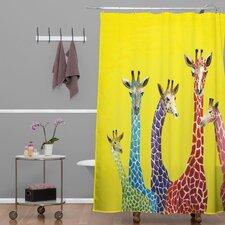 Clara Nilles Woven Polyester Jellybean Giraffes Shower Curtain