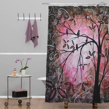 Madart Inc Woven Polyester Cherry Blossoms Extra Long Shower Curtain