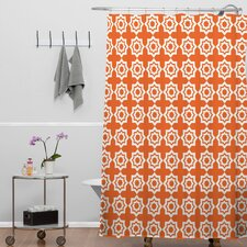 Khristian A Howell Woven Polyester Moroccan Mirage Shower Curtain