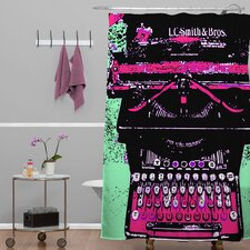 Romi Vega Polyester Antique Typewriter Shower Curtain