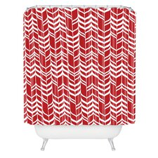Andrea Victoria Jolly Woven Polyester Shower Curtain