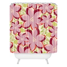 Andrea Victoria Twinkle and Shine Woven Polyester Shower Curtain