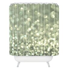 Lisa Argyropoulos Mingle 2 Silver Screen Woven Polyester Shower Curtain