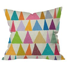 Nick Nelson Analogous Shapes In Bloom Outdoor Throw Pillow