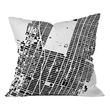 CityFabric Inc. NYC Midtown Woven Polyester Throw Pillow