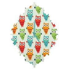Andi Bird Owl Wall Clock