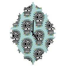 Andi Bird Sugar Skull Wall Clock