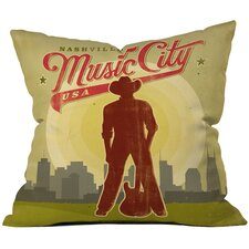 <strong>DENY Designs</strong> Anderson Design Group Music City Woven Polyester Throw Pillow