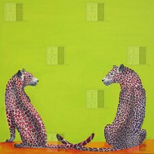 Clara Nilles Woven Polyester Leopard Lovers Shower Curtain