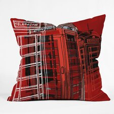 Aimee St Hill Phone Box Polyester Throw Pillow