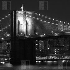 Brooklyn Bridge 125 by Leonidas Oxby Photographic Print on Canvas
