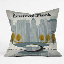 Anderson Design Group Central Park Snow Indoor/Outdoor Polyester Throw Pillow