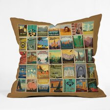 Anderson Design Group City Pattern Border Indoor/Outdoor Polyester Throw Pillow