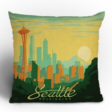 Anderson Design Group Seattle Woven Polyester Throw Pillow