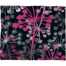 <strong>DENY Designs</strong> Rachael Taylor Cow Parsley Polyester Fleece Throw Blanket