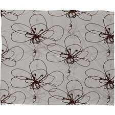 <strong>DENY Designs</strong> Rachael Taylor Tonal Floral Polyester Fleece  Throw Blanket