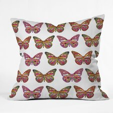 Bianca Green Butterflies Fly Indoor/Outdoor Polyester Throw Pillow