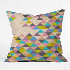 Bianca Green Completely Incomplete Woven Polyester Throw Pillow