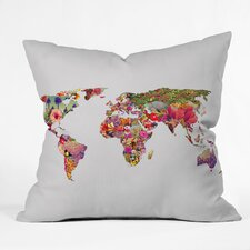 Bianca Green Its Your World Indoor/Outdoor Polyester Throw Pillow