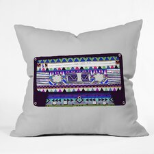 Bianca Green Mix Tape No 10 Woven Polyester Throw Pillow
