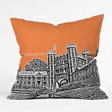 Bird Ave Princeton University Woven Polyester Throw Pillow