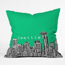 <strong>DENY Designs</strong> Bird Ave Seattle Woven Polyester Throw Pillow