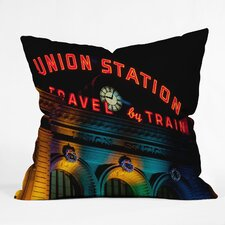 <strong>DENY Designs</strong> Bird Wanna Whistle Union Station Woven Polyester Throw Pillow