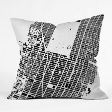 <strong>DENY Designs</strong> CityFabric Inc NYC Midtown Woven Polyester Throw Pillow