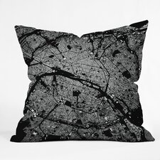 <strong>DENY Designs</strong> CityFabric Inc Paris Indoor/Outdoor Polyester Throw Pillow