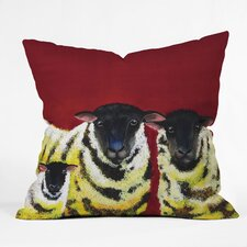 Clara Nilles Spongecake Sheep Woven Polyester Throw Pillow