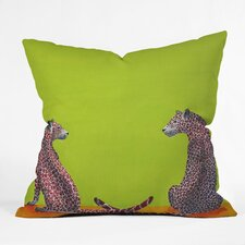 <strong>DENY Designs</strong> Clara Nilles Leopard Lovers Woven Polyester Throw Pillow