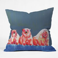 Clara Nilles Polarbear Blush Indoor / Outdoor Polyester Throw Pillow