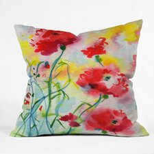 Ginette Fine Art If Poppies Could Only Speak Throw Pillow