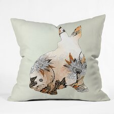 <strong>DENY Designs</strong> Iveta Abolina Little Rabbit Indoor / Outdoor Polyester Throw Pillow